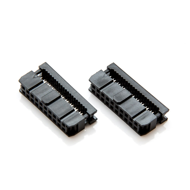 Two (2) 20-pin Female IDC connectors for Ribbon cable